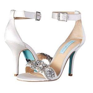 Betsey Johnson Blue Wedding Shoes